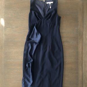 🧩Trina Turk Indigo Blue Fitted Dress Size 0